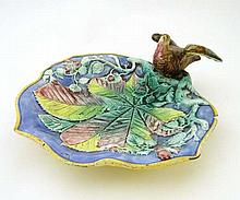 A c.1900 Majolica serving dish moulded with