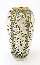 A Worcester Granger baluster shaped vase finely