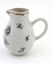 A Chinese porcelain sparrow beak jug decorated en