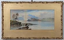 Willian Henry Earp (1833-?),  Watercolours ,a pair,  Loch scenes,  Both signed lower left,  9  1/2 x 21