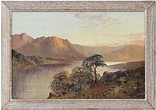 Francis E Jamieson (1895-1950),  Also signs as W. Richards ,  Oil on canvas,  Scottish Loch scene ,   Si