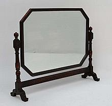Waring & Gillows Ltd 70386 Stamped and labelled under : An early 20thC oak dressing table mirror of  canted square desig