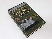 Book: A c1890s , Mrs Beetons ''Everyday cookery and housekeeping'.' Original green cover with gilt lettering to front an