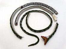 Militaria : A beadwork snake , marked ' Turkish Prisoner 1917 '    Please Note -  we do not make reference to the co