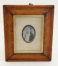 Colonial Wars : An oval monochrome print of Colonel John William Hessing ( 1739 - 1803 . ) Apeture 3 1/2