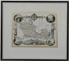 Maps: A framed and glazed map of '' Berkshire '' by Thomas Moule. C1840. From a series originally produced for Thomas Mo