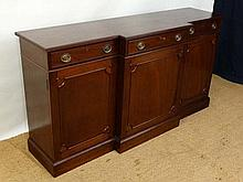 A Contemporary Bespoke mahogany on oak frame break front sideboard comprising 3 drawers and 3 cupboards approx 67