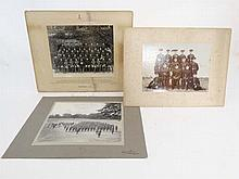 Militaria : An assortment of three pre WWI military photographs , comprising a group shot of Sergeants , NCOs and Office
