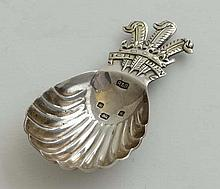 Royal Commemorative / Souvenir silver : A silver caddy spoon commemorating the marriage  of Prince Charles & Princess Di