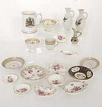 A collection of assorted ceramics. Makers include Royal Crown Derby, Coalport and others. To include cups, saucers, plat