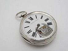 Erotic Pocketwatch : Signed 'P Gallewski , Sunderland ' a fusee movement pocket watch withno..9464 with engraved cockspu