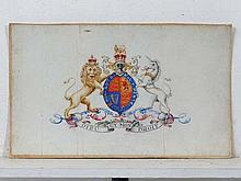 Royal Coat of Arms  Watercolour  Coat of Arms of Albert 'Bertie' Edward, the Prince of Wales''' later King Edwar