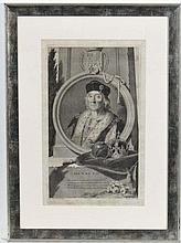 Pieter Stevens Van Gunst (1659-1724) after Adriaen Van Der Werff (1659-1722)  Copper engraving c