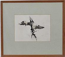 Glyn Morgan (1926-?) Mixed media ' Head ' Signed and dated '68' in pencil lower right