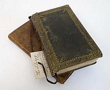 Books: Two leather bound religious books, to include; '' The Gospel according to St Matthew '' , c18