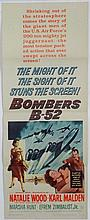 Film Poster: A poster for the 1957 film '' Bomber B-52 '' , directed by Gordon Douglas , screenplay
