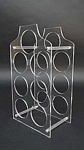 Vintage Retro :   A clear Acrylic wine rack for 7 wine bottles, 9 3/4