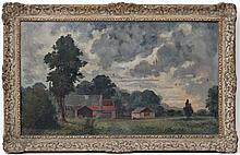 Edward F Kidd early-mid XX,  Oil on canvas,  ' Gathering Clouds ',  Signed lower left,