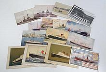 Shipping memorabilia : postcards to include White Star Line and Cunard, RMS Queen Mary, Queen Elizab