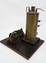 1881 Scale Live Steam Engine : a Cornish Team plant working model of the Redruth and Chacewater Rail