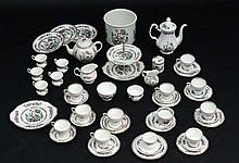 A matched '' Indian Tree '' pattern part tea set, including pieces by Coronet China, Portmerion etc,
