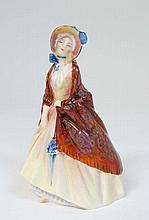 A Royal Doulton figurine ''Paisley Shawl'' HN 1988, bears factory stamp to base. 6 1/4'' high.