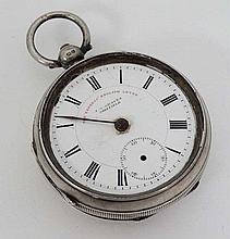 Silver Pocket Watch  : a J G Graves , Sheffield ' The
