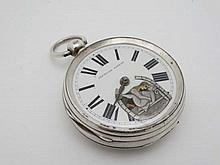 Erotic Pocketwatch : Signed 'P Gallewski , Sunderland ' a fusee movement pocket watch withno..9464 w