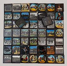 Magic Lantern Slides : an extremely large quantity of Slides, many hand coloured to include subjects