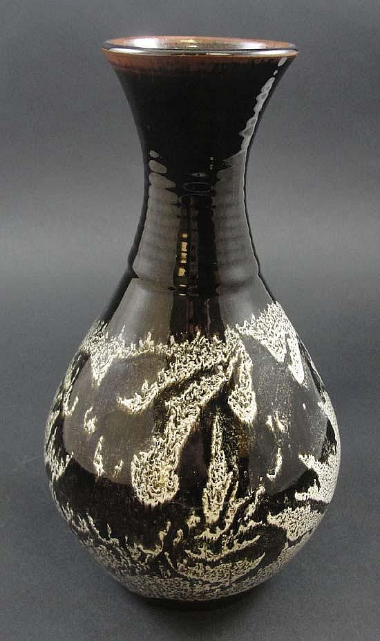 An Art stoneware shaped vase by Wilson Lochhead of