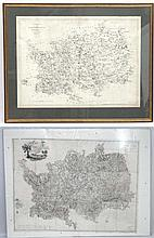 Map: An extremely large map titled '' A Topographical Map of Hartford-shire