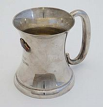 British Motorcycle racing Club : A silver plate trophy cup with enamelled e