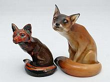 A Royal Doulton model of a seated fox. Model number HN130. 8