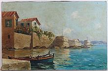 Angelo Raghetti ( Early XX ) Neopolitan ( Neapolitan ) School,  Oil on Canvas,  Golfo De Nap