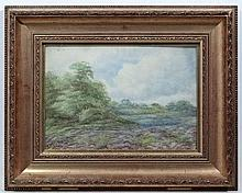 Nora Robinson XX,  Watercolour ,  Heather at Wood's Edge,  Signed lower left and ascribe