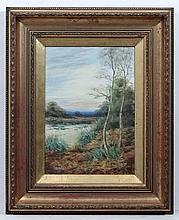 Nora Robinson XX,  Watercolour and gouache,  ' Evening Essex ',  Ascribed verso.  13