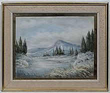 Nora Robinson XX,  Watercolour and gouache,  Spruce in the Snow,  Titled and ascribed ve