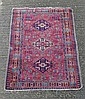 Carpet rug : a Persian hand made Rug with wine red