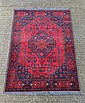 Carpet rug : an Afghan handmade rug with wine