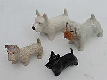 Dogs: West Highland Terriers, Four assorted