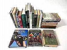 Books: A quantity of books on racing including R C