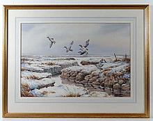 Simon T Trinder XX-XXI Watercolour ' Teal over the