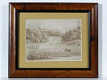 Archery : A early circa 1820 sepia watercolour of