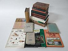 Books: A quantity of books on fishing comprising