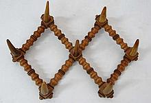 Taxidermy: A set of Victorian expanding coat hooks