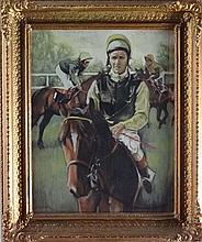 Horse Racing : Mid XX Pastel Jockeys up In an