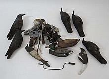 Shooting: A collection of five crow decoys with