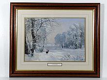 After A A Lundby ( 1840-1923) Coloured print '