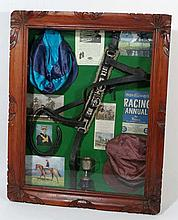 Horse Racing: A Shadowbox containing pictures,