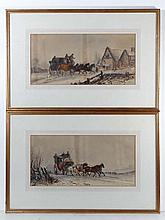 Stage Coach: Watercolours and gouaches, a pair